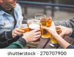 group of friends enjoying a... | Shutterstock . vector #270707900