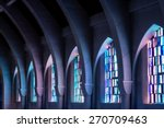 arched columns in monastery... | Shutterstock . vector #270709463