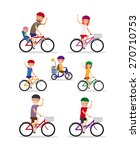 sports family. mom  dad and... | Shutterstock .eps vector #270710753