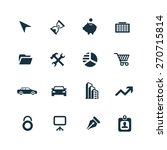company icons set on white... | Shutterstock . vector #270715814