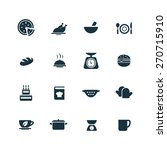 cooking icons set on white... | Shutterstock . vector #270715910