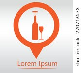 vector icons related to wine... | Shutterstock .eps vector #270716573