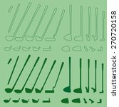 golf sport items linear and... | Shutterstock .eps vector #270720158