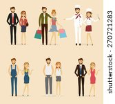 set of man and woman hipster... | Shutterstock .eps vector #270721283