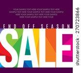 sale design template vector | Shutterstock .eps vector #270723866
