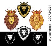 lion head in signs and labels | Shutterstock . vector #270724214