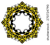 black and yellow round ornament....   Shutterstock .eps vector #270724790