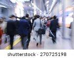 businesspeople walking in... | Shutterstock . vector #270725198
