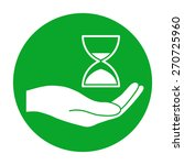 hand holding hourglass. | Shutterstock .eps vector #270725960