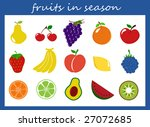 fruits collection | Shutterstock . vector #27072685