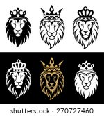 lion head in signs and labels | Shutterstock . vector #270727460