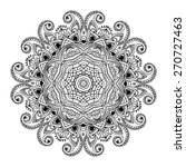 ornament black white card with... | Shutterstock .eps vector #270727463