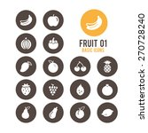 fruit icons. vector... | Shutterstock .eps vector #270728240