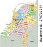netherlands   highly detailed... | Shutterstock .eps vector #270731399