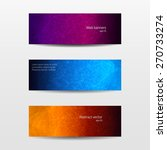 abstract banner set with...