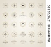set luxury logos template... | Shutterstock .eps vector #270733580