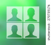 avatars in squares on blur...