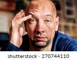 man is elevating his eyebrow... | Shutterstock . vector #270744110