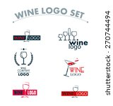 vector set of wine logo. wine... | Shutterstock .eps vector #270744494