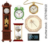 set of clocks collection... | Shutterstock .eps vector #270748010