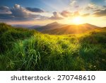 mountain valley during sunset.... | Shutterstock . vector #270748610
