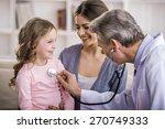 pediatrician checks breath... | Shutterstock . vector #270749333