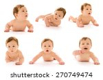 collection of the child on a... | Shutterstock . vector #270749474