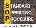 business acronym sop as... | Shutterstock . vector #270753134