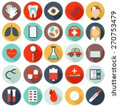 set of flat medical icons | Shutterstock .eps vector #270753479