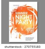 summer night party vector flyer ...   Shutterstock .eps vector #270755183