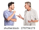 senior father with adult son... | Shutterstock . vector #270756173