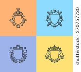 herald logo template on shields ... | Shutterstock .eps vector #270757730