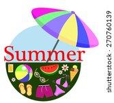 summer holiday decorative...   Shutterstock .eps vector #270760139