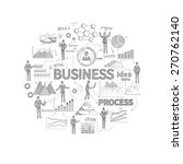 business process concept with... | Shutterstock .eps vector #270762140