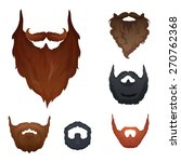 different style of beard set... | Shutterstock .eps vector #270762368