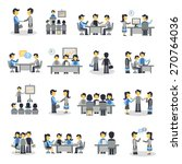 meeting icons flat set with... | Shutterstock .eps vector #270764036