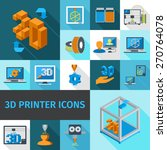 printer digital 3d technology... | Shutterstock .eps vector #270764078