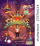 circus show poster with acrobat ... | Shutterstock .eps vector #270764114