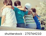 group of happy children from... | Shutterstock . vector #270764210