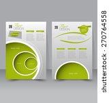 flyer template. business... | Shutterstock .eps vector #270764558