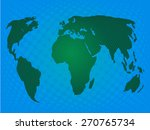 green world map with halftone | Shutterstock .eps vector #270765734