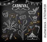 carnival icons  sketch design. | Shutterstock .eps vector #270766928