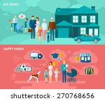 family horizontal banner set... | Shutterstock .eps vector #270768656