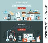 chemistry horizontal banner set ... | Shutterstock .eps vector #270768689