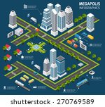 isometric city concept with 3d... | Shutterstock .eps vector #270769589