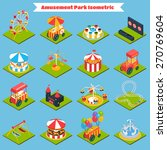 amusement park isometric icons... | Shutterstock .eps vector #270769604