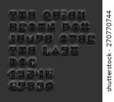 vector geometric cutout black... | Shutterstock .eps vector #270770744