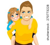 handsome young dad with his... | Shutterstock .eps vector #270773228