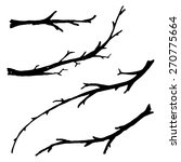 hand drawn branches. | Shutterstock .eps vector #270775664