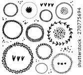 hand drawn round frames. | Shutterstock .eps vector #270775694